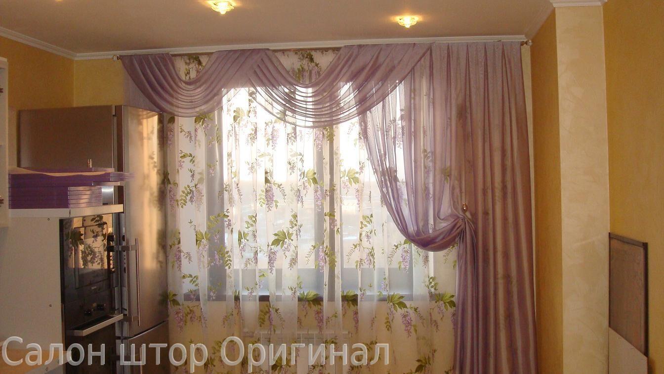 шторы и тюль фото на кухню