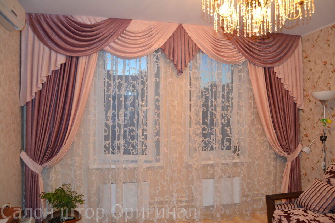Шикарные шторы для зала фото