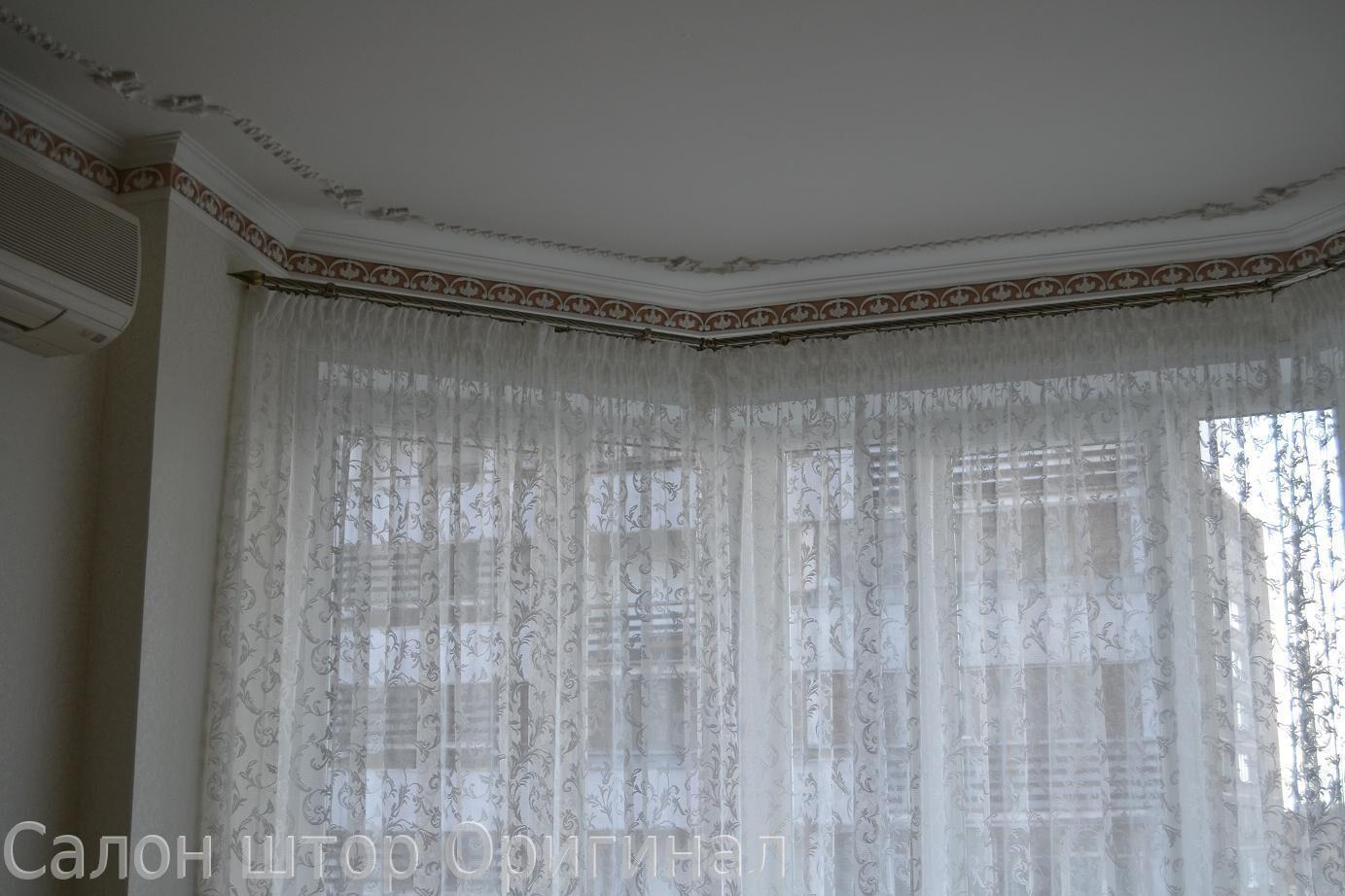 Современный дизайн штор для кухни фото