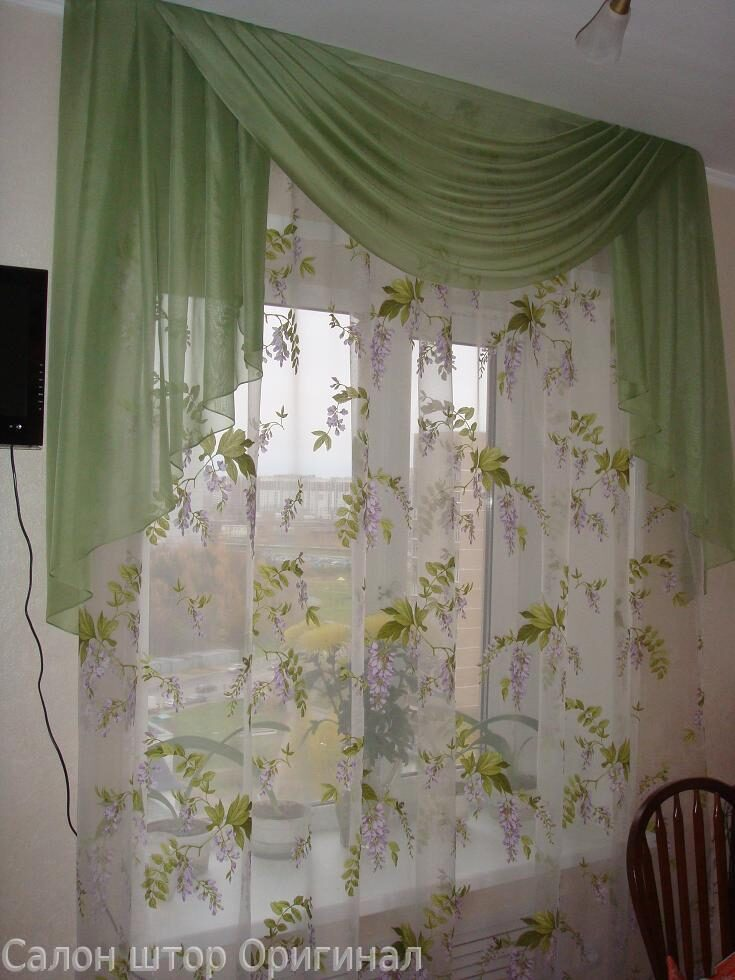шторы и тюль на кухню фото